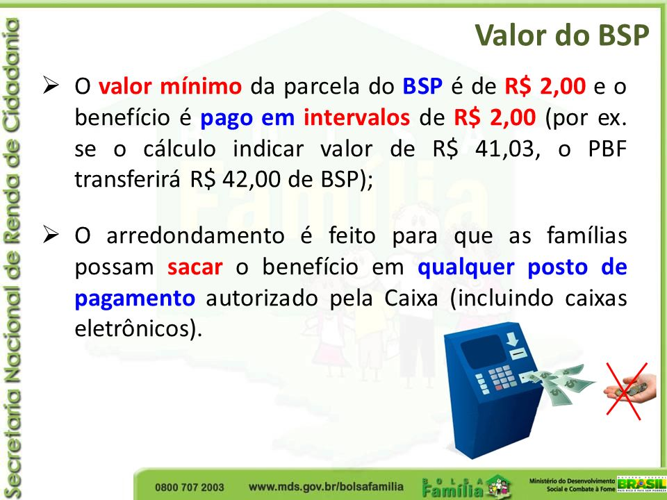 Valor do BSP