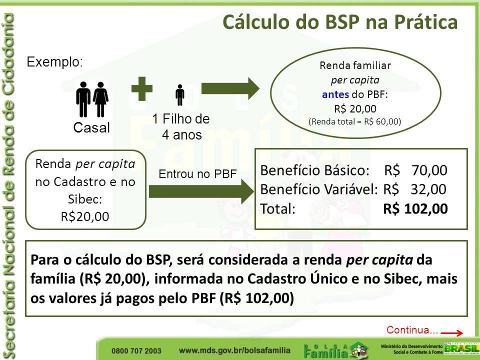 Renda per capita no Cadastro e no Sibec: