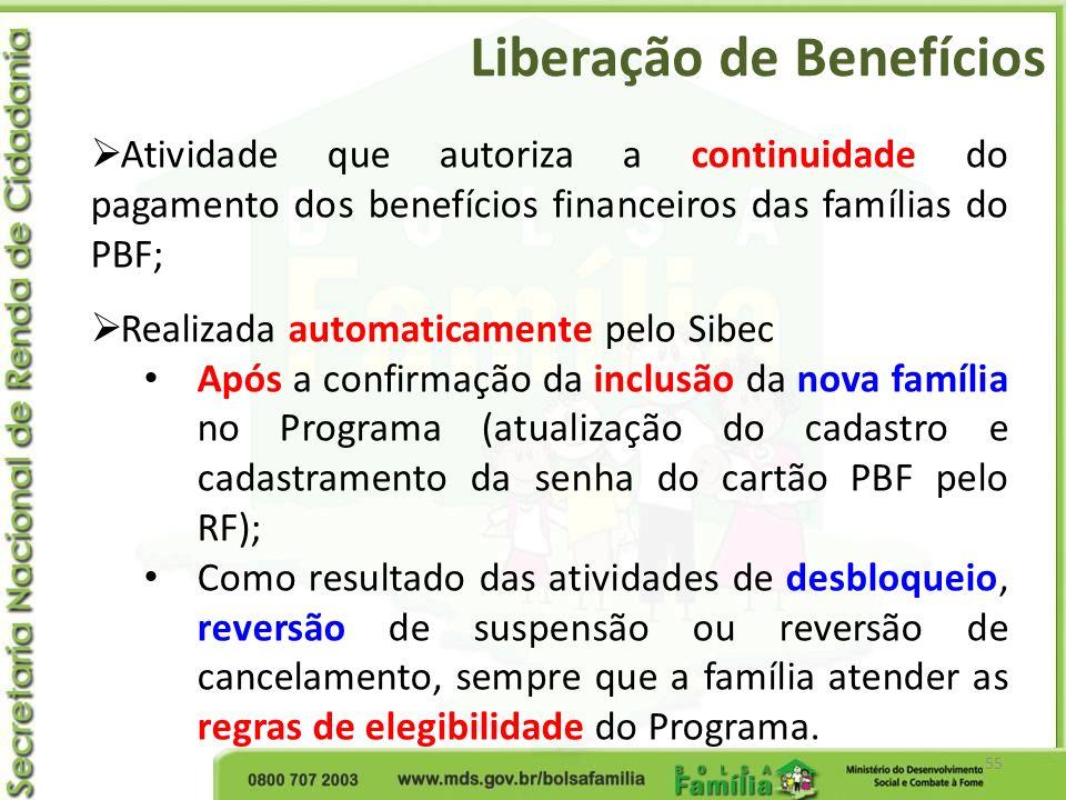 Liberação de Benefícios