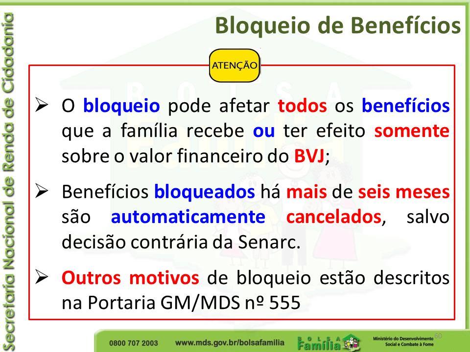 Bloqueio de Benefícios