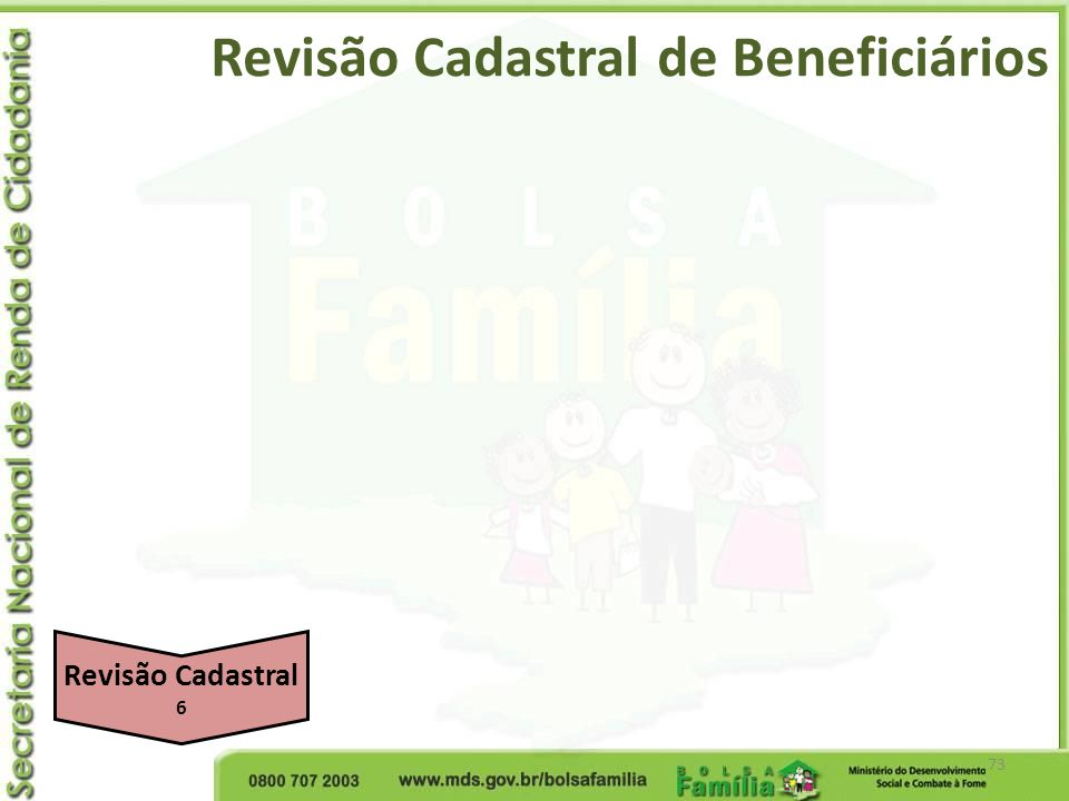 Revisão Cadastral de Beneficiários