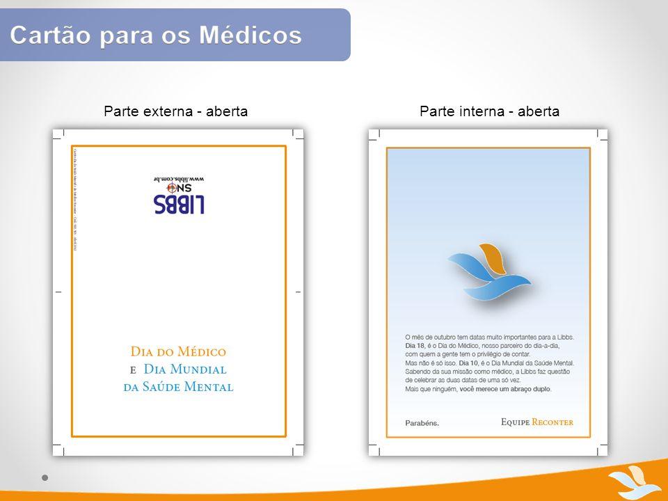Cartão para os Médicos Parte externa - aberta Parte interna - aberta