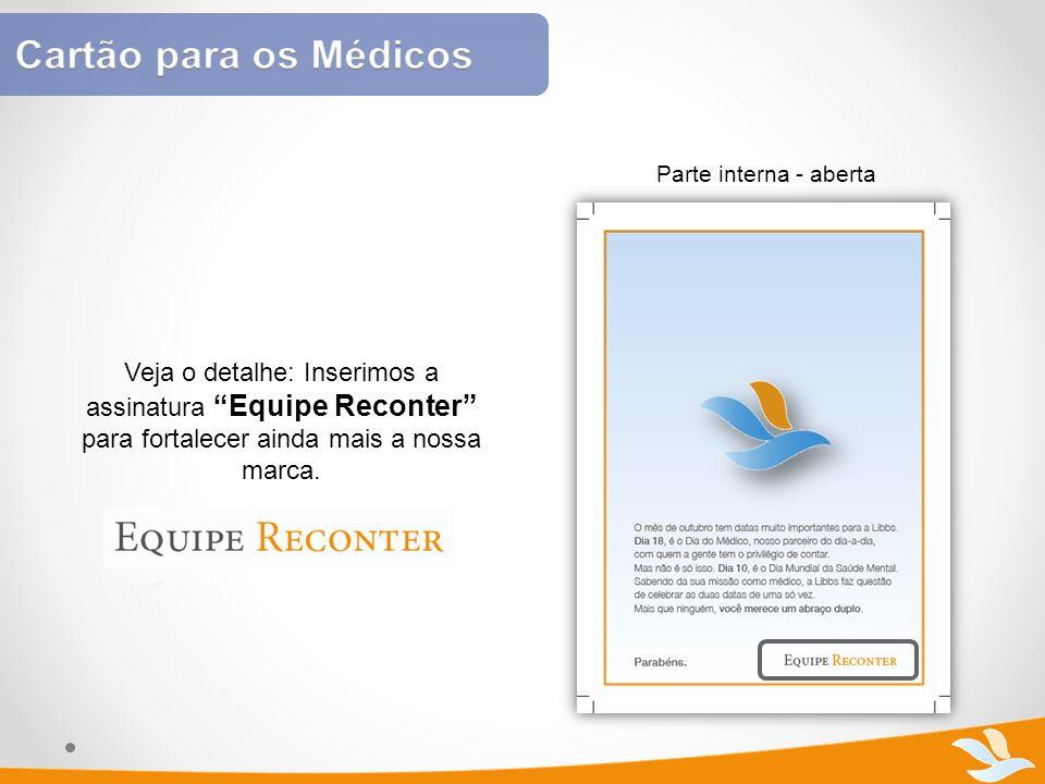 Cartão para os Médicos Parte interna - aberta.