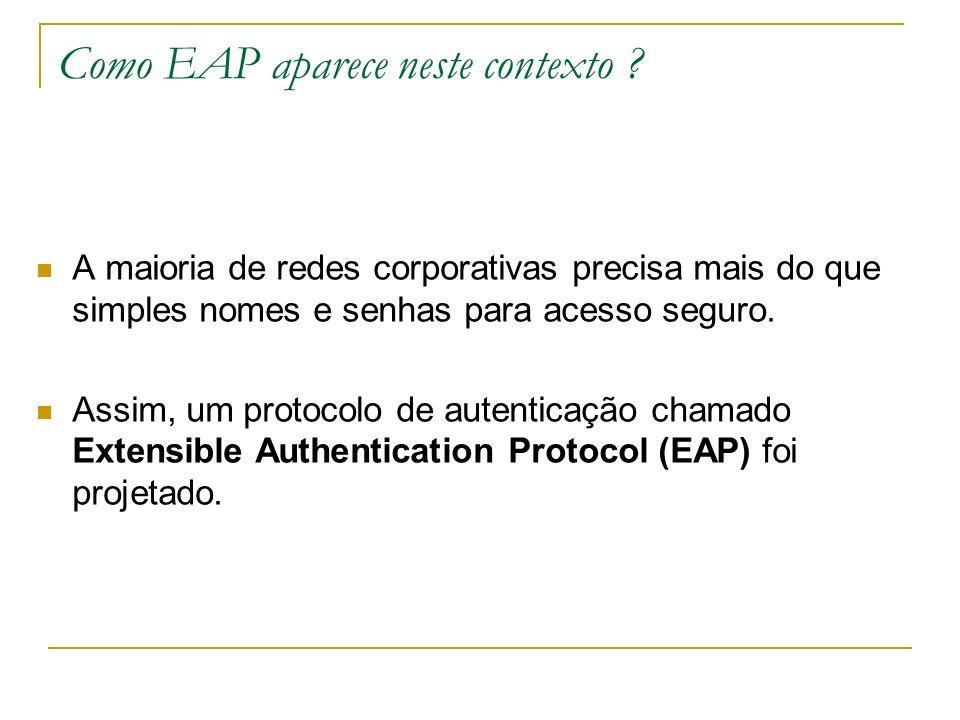 Como EAP aparece neste contexto