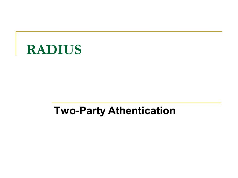 Two-Party Athentication