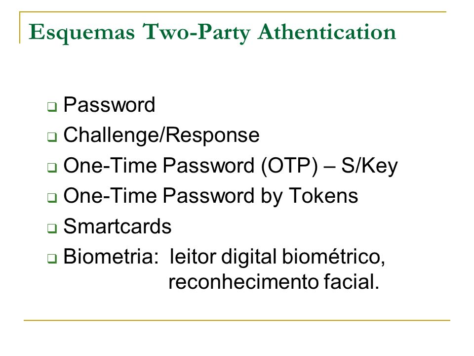 Esquemas Two-Party Athentication