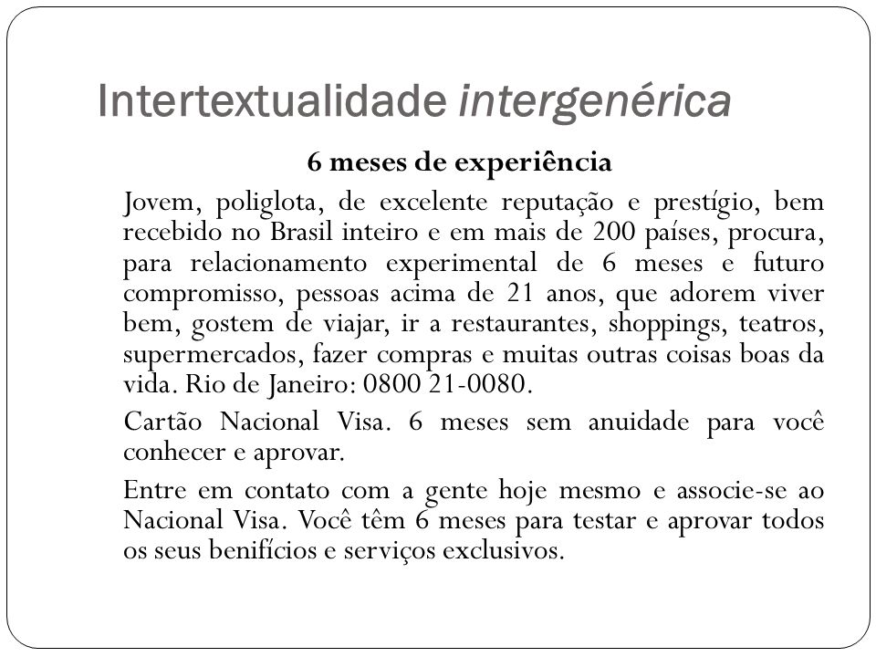 Intertextualidade intergenérica