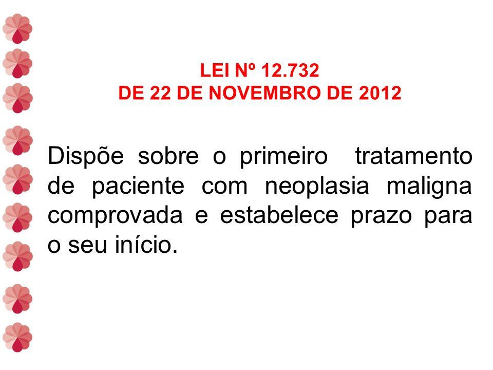 LEI Nº 12.732 DE 22 DE NOVEMBRO DE 2012