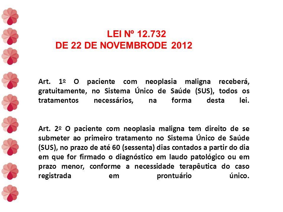 LEI Nº 12.732 DE 22 DE NOVEMBRODE 2012