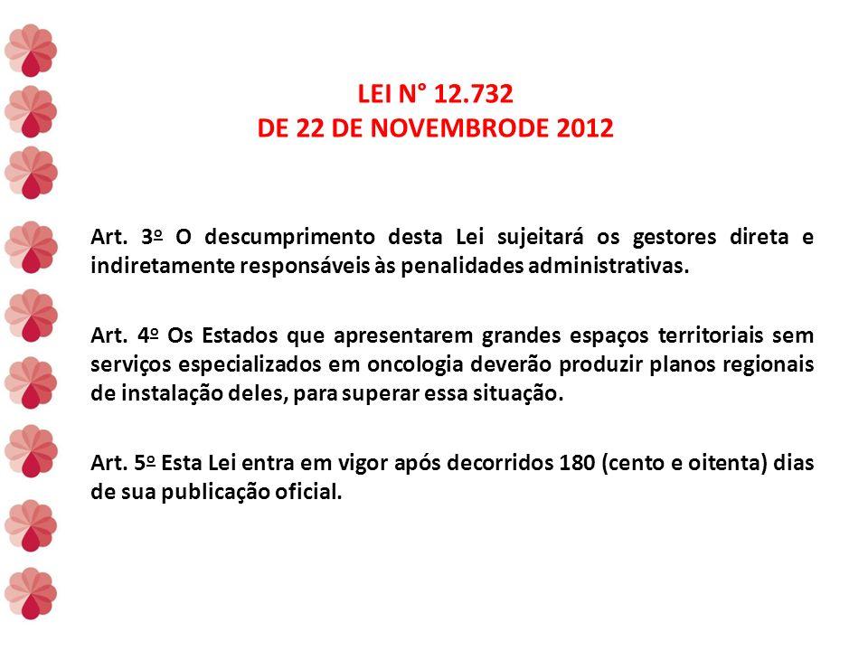 LEI N° 12.732 DE 22 DE NOVEMBRODE 2012