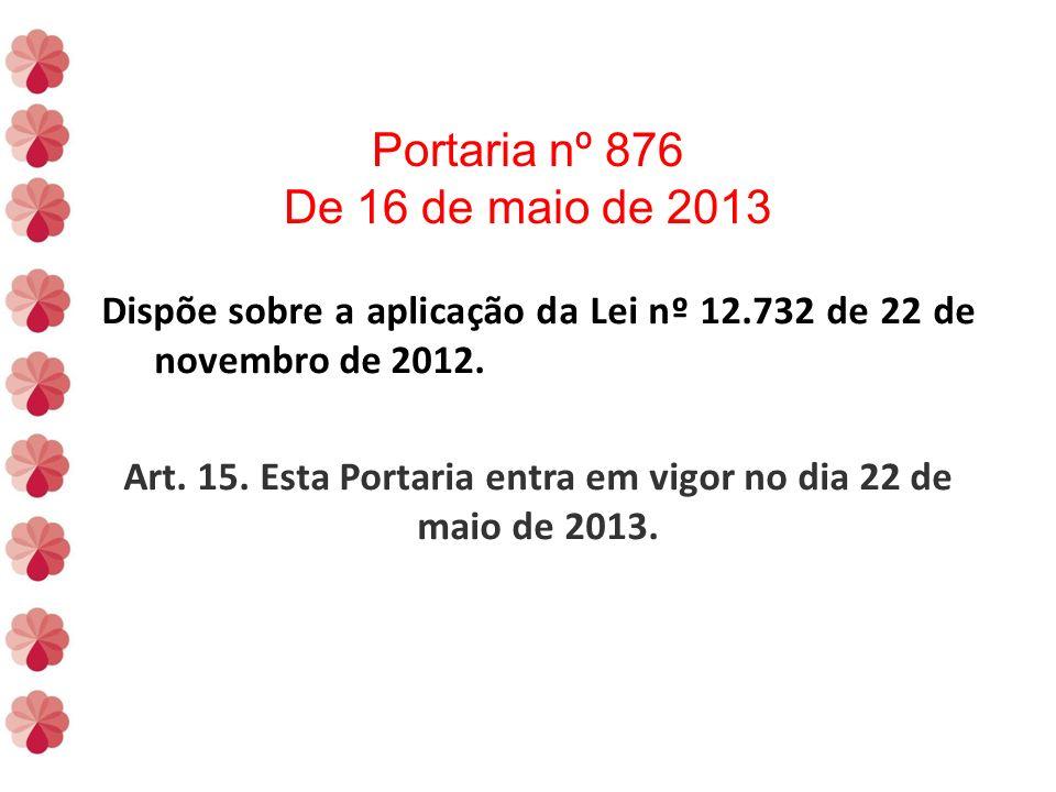 Art. 15. Esta Portaria entra em vigor no dia 22 de maio de 2013.