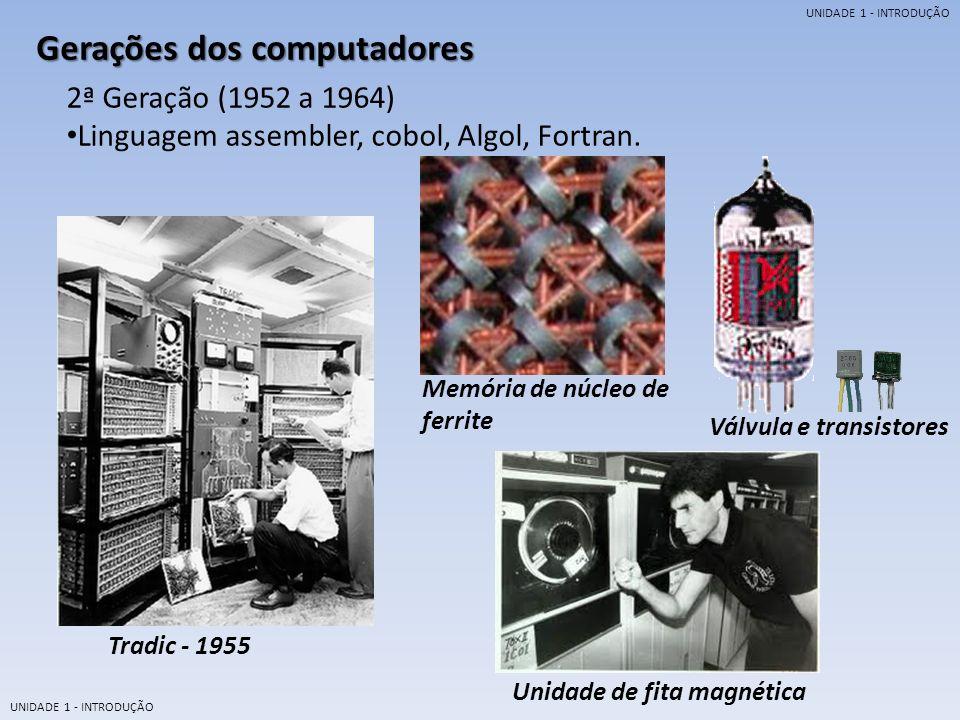 Gerações dos computadores