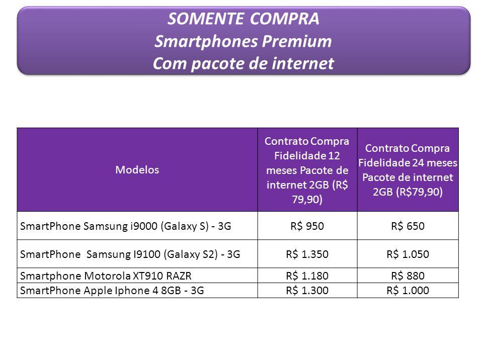 SOMENTE COMPRA Smartphones Premium Com pacote de internet