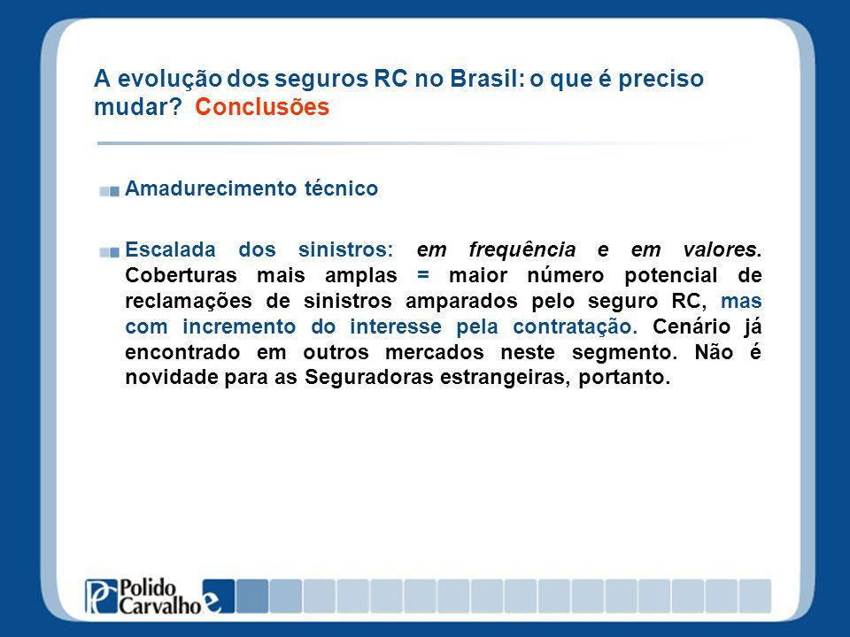 A evolução dos seguros RC no Brasil: o que é preciso mudar Conclusões