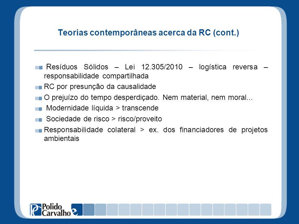 Teorias contemporâneas acerca da RC (cont.)