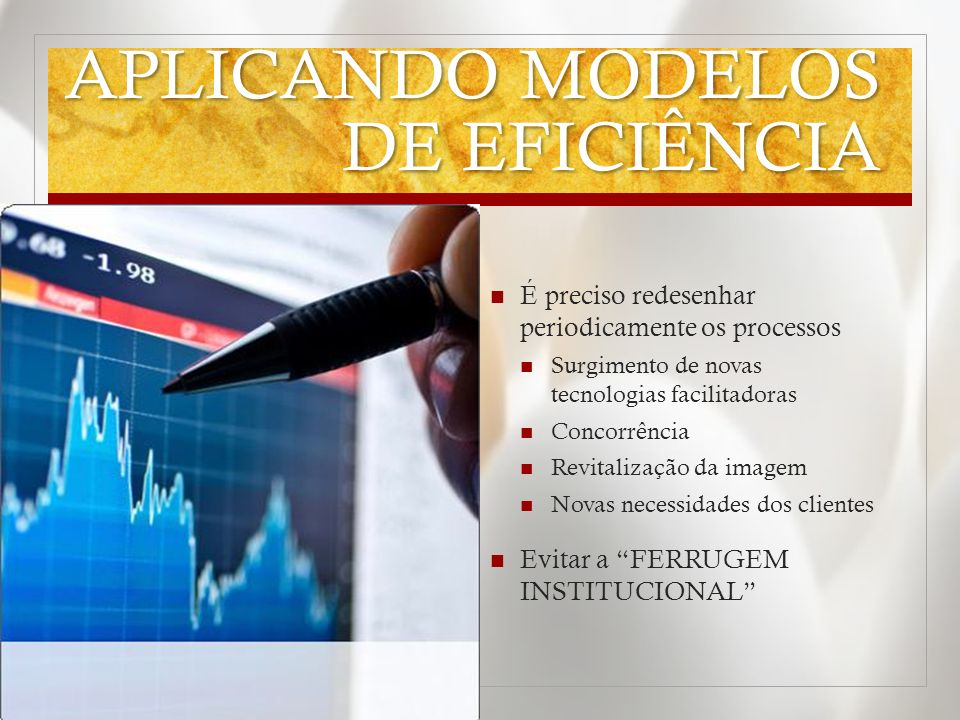 APLICANDO MODELOS DE EFICIÊNCIA