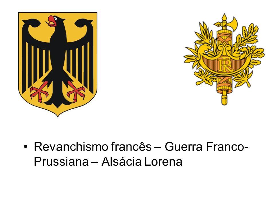 Revanchismo francês – Guerra Franco-Prussiana – Alsácia Lorena