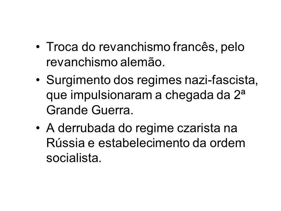 Troca do revanchismo francês, pelo revanchismo alemão.