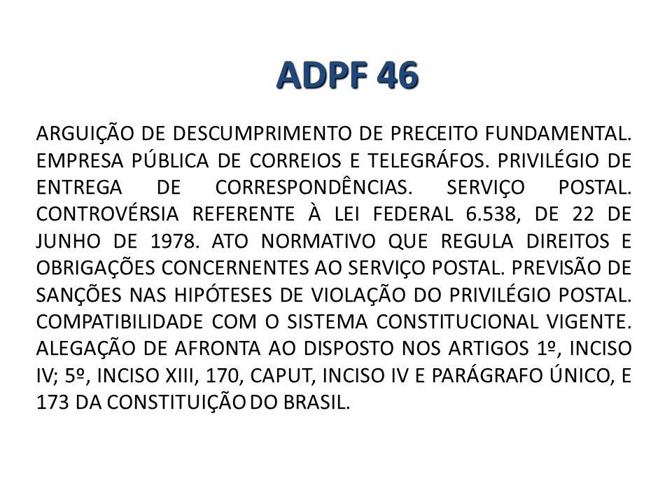 ARGUIÇÃO DE DESCUMPRIMENTO DE PRECEITO FUNDAMENTAL