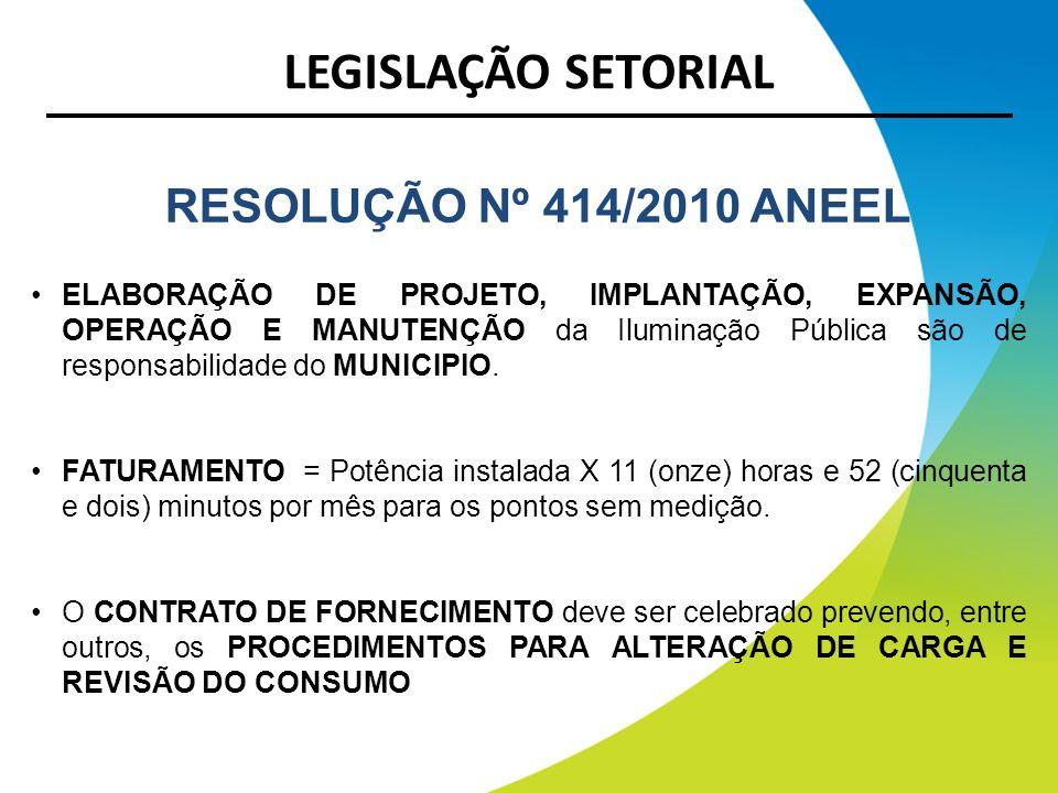 LEGISLAÇÃO SETORIAL RESOLUÇÃO Nº 414/2010 ANEEL