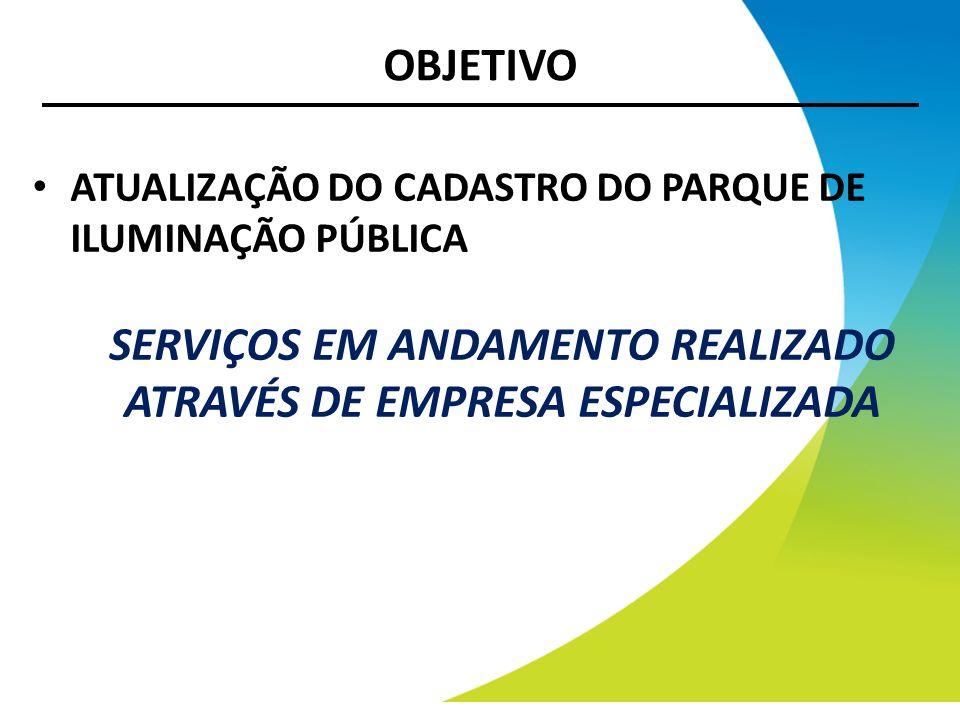 SERVIÇOS EM ANDAMENTO REALIZADO ATRAVÉS DE EMPRESA ESPECIALIZADA