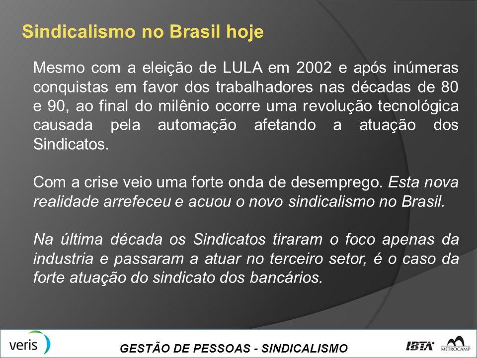 Sindicalismo no Brasil hoje