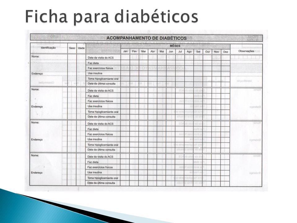 Ficha para diabéticos
