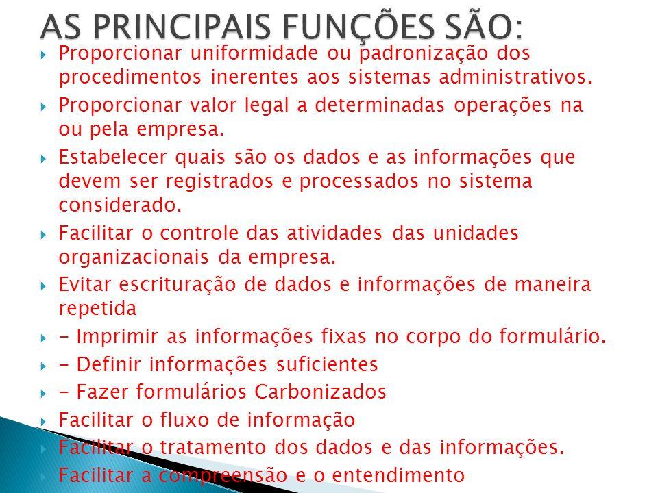AS PRINCIPAIS FUNÇÕES SÃO: