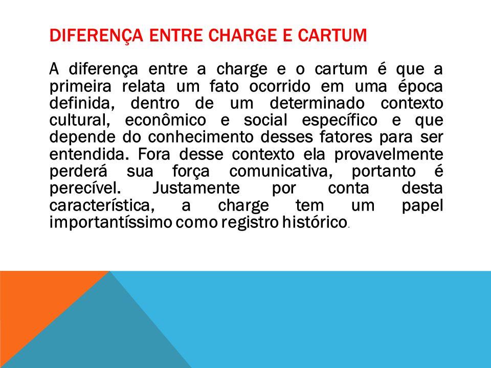 Diferença entre Charge e Cartum