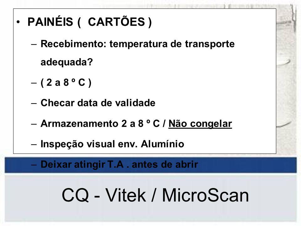 CQ - Vitek / MicroScan PAINÉIS ( CARTÕES )