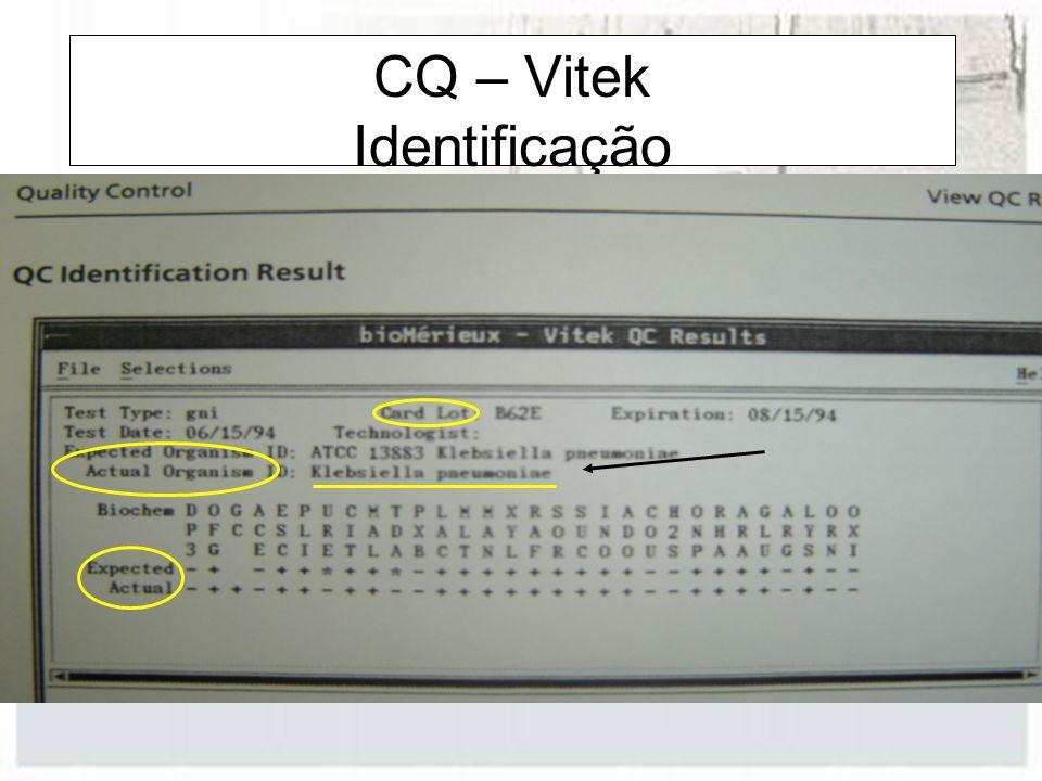 CQ – Vitek Identificação