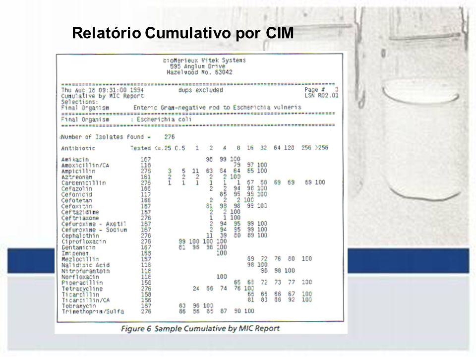 Relatório Cumulativo por CIM