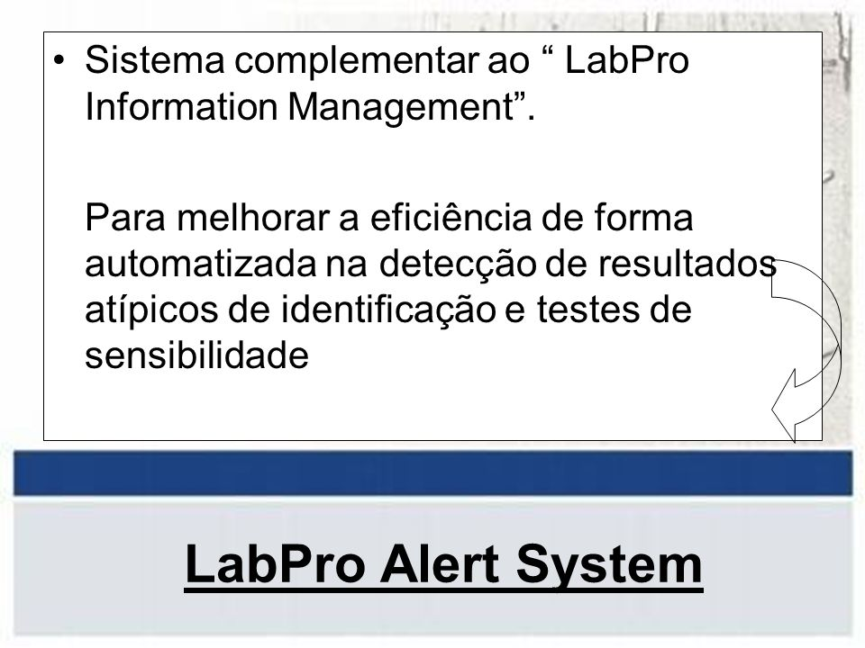 Sistema complementar ao LabPro Information Management .
