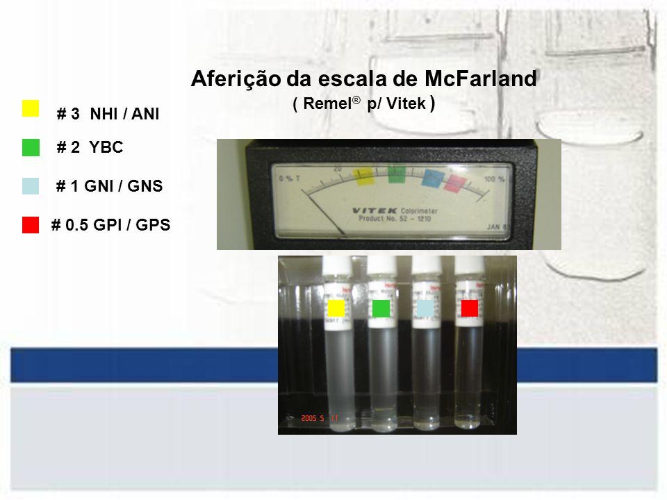 Aferição da escala de McFarland ( Remel® p/ Vitek )