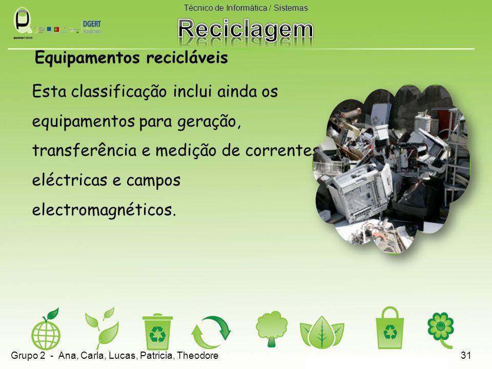 Equipamentos recicláveis