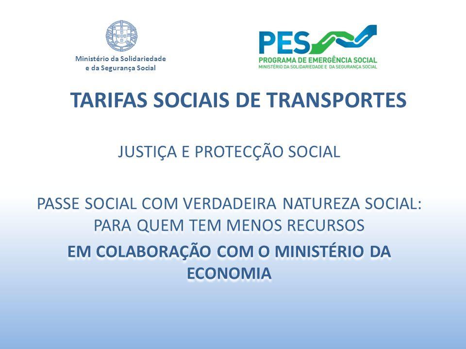 TARIFAS SOCIAIS DE TRANSPORTES