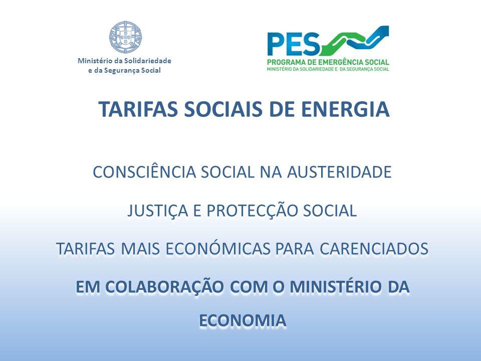 TARIFAS SOCIAIS DE ENERGIA