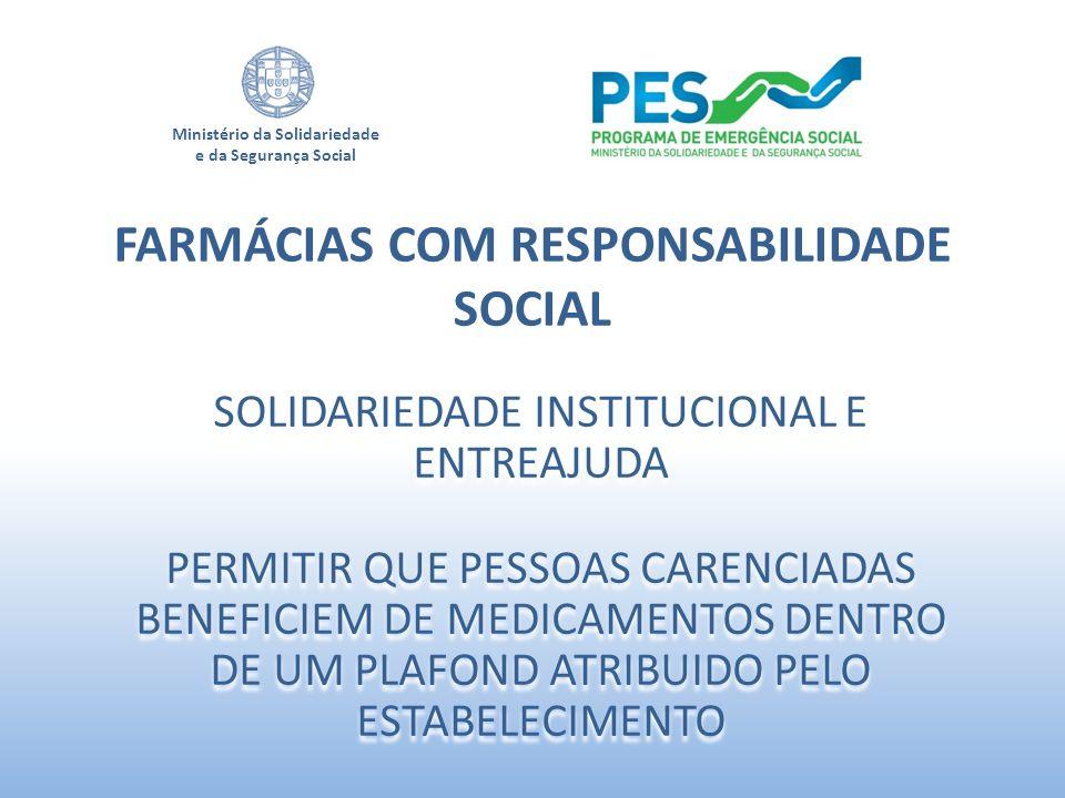 FARMÁCIAS COM RESPONSABILIDADE SOCIAL