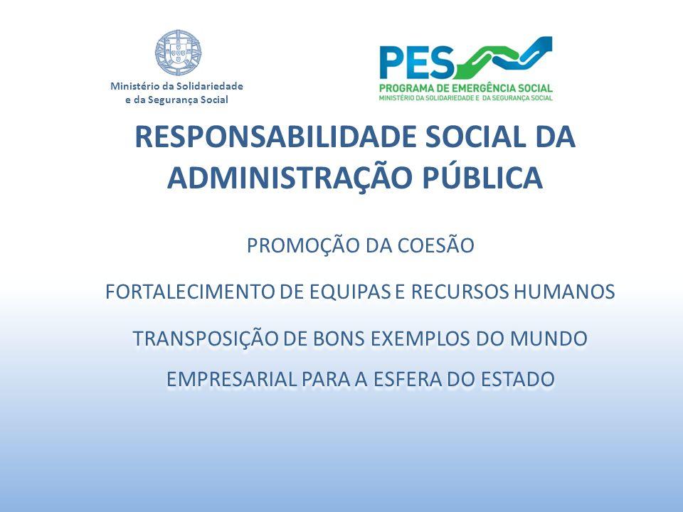 RESPONSABILIDADE SOCIAL DA ADMINISTRAÇÃO PÚBLICA