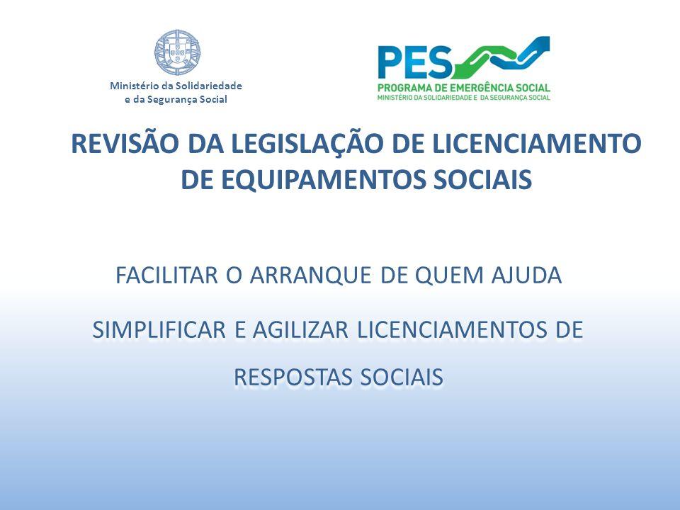 REVISÃO DA LEGISLAÇÃO DE LICENCIAMENTO DE EQUIPAMENTOS SOCIAIS