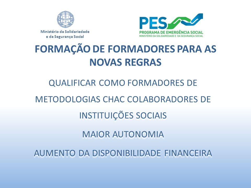 FORMAÇÃO DE FORMADORES PARA AS NOVAS REGRAS