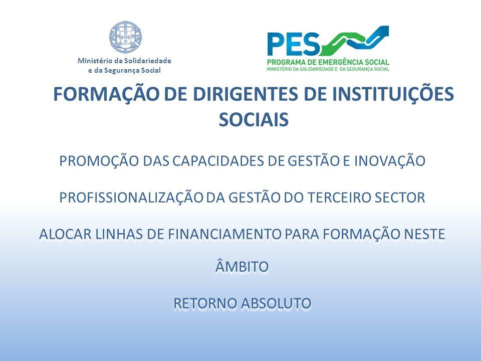 FORMAÇÃO DE DIRIGENTES DE INSTITUIÇÕES SOCIAIS