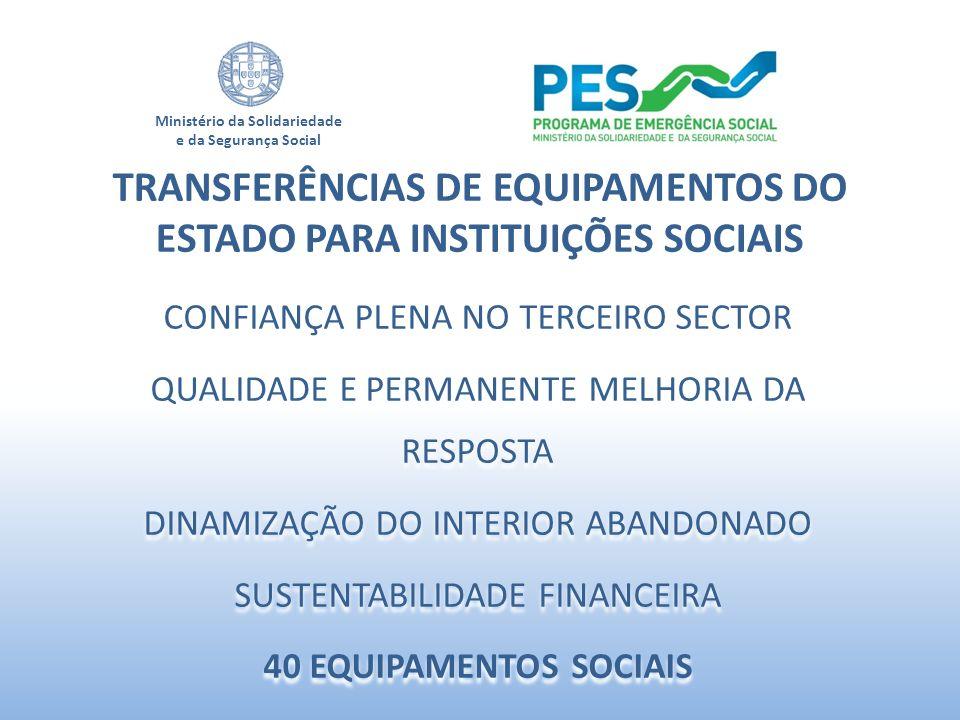 TRANSFERÊNCIAS DE EQUIPAMENTOS DO ESTADO PARA INSTITUIÇÕES SOCIAIS