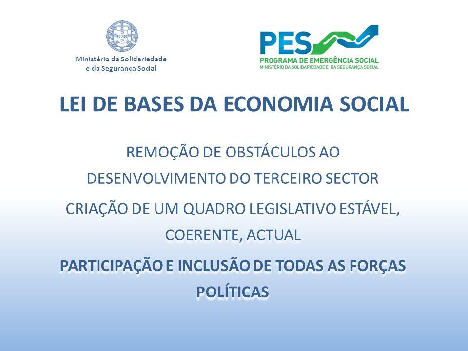 LEI DE BASES DA ECONOMIA SOCIAL