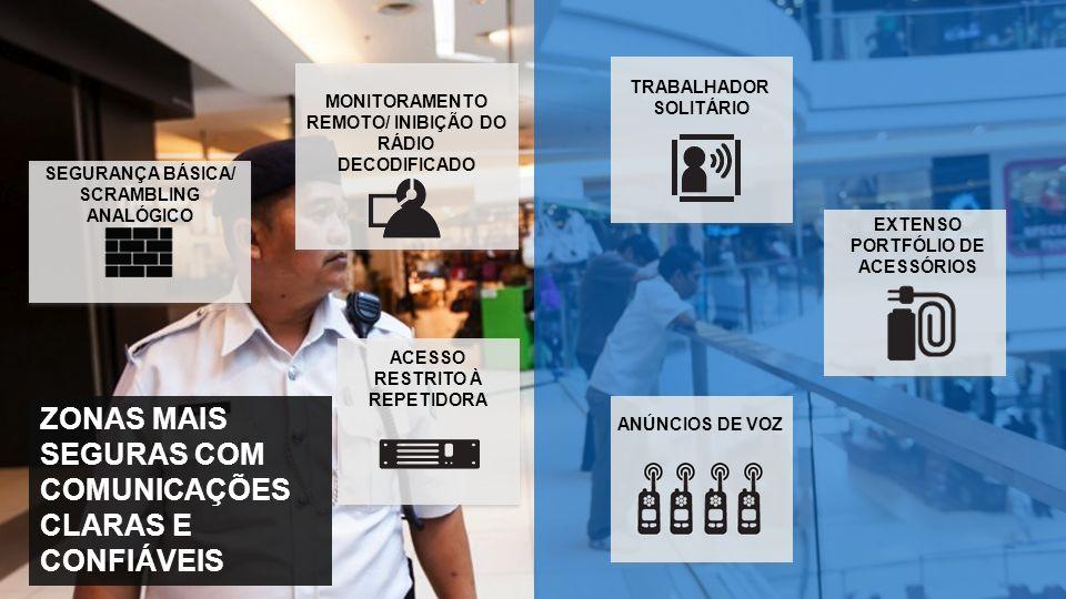 ZONAS MAIS SEGURAS COM COMUNICAÇÕES CLARAS E CONFIÁVEIS