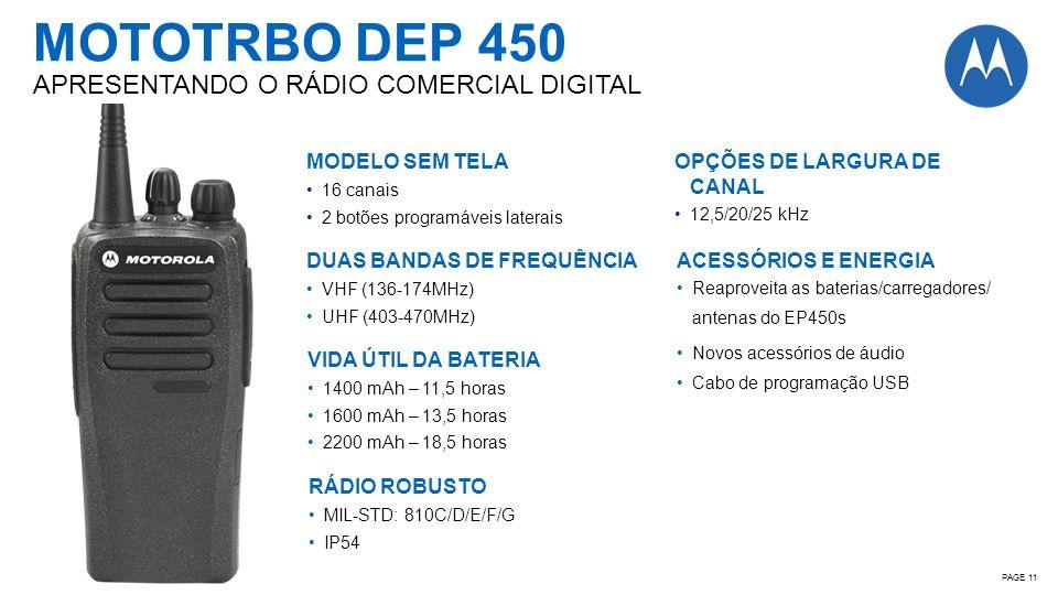 MOTOTRBO DEP 450 APRESENTANDO O RÁDIO COMERCIAL DIGITAL