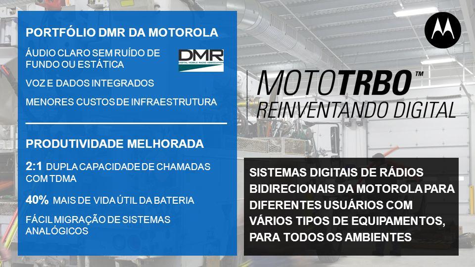 PORTFÓLIO DMR DA MOTOROLA
