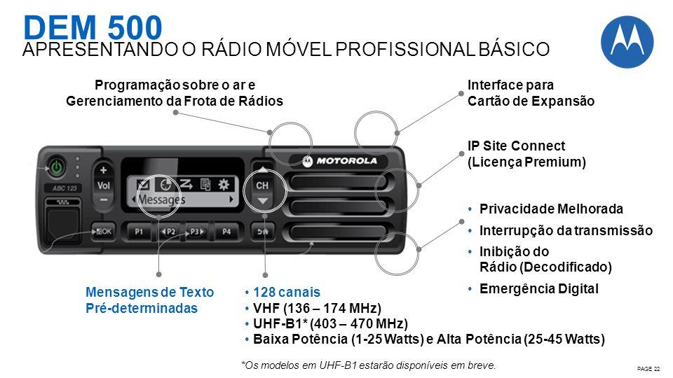 Programação sobre o ar e Gerenciamento da Frota de Rádios