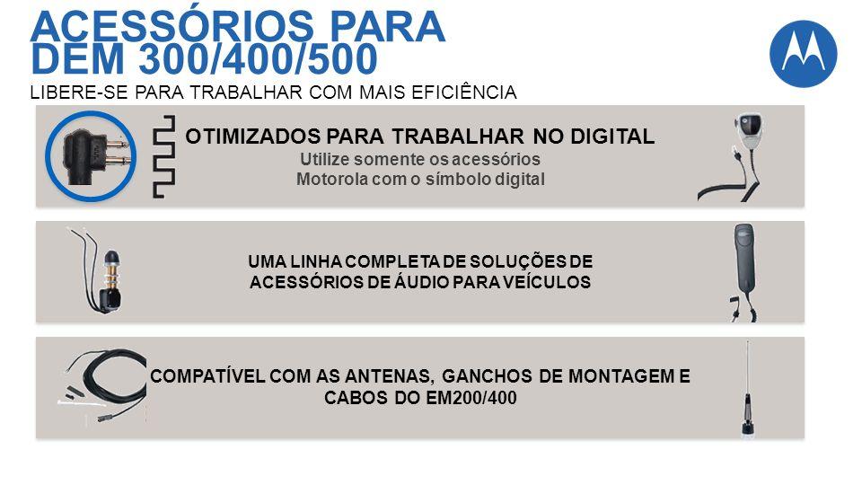 ACESSÓRIOS PARA DEM 300/400/500 OTIMIZADOS PARA TRABALHAR NO DIGITAL