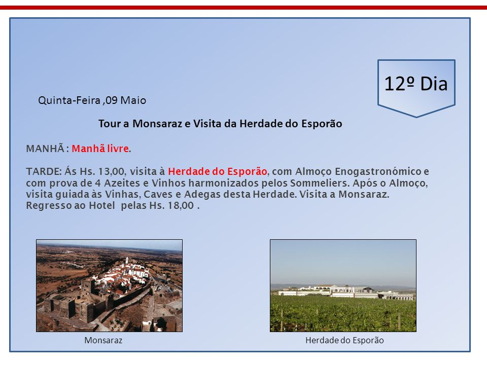 Tour a Monsaraz e Visita da Herdade do Esporão